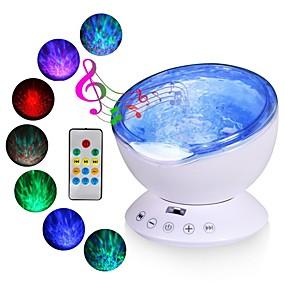 cheap Décor & Night Lights-Ocean Wave Projector LED Night Light Tiktok Star Light Nebula Projector Built In Music Player Remote Control 7 Light Cosmos Star Luminaria For kid Bedroom