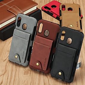 povoljno Maske za mobitele-Θήκη Za Huawei Huawei P30 / Huawei P30 Pro / Huawei P30 Lite Utor za kartice / Otporno na trešnju / Zaokret Stražnja maska Jednobojni PU koža