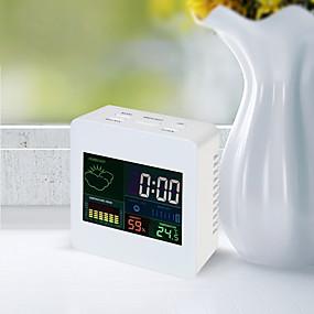 preiswerte Neu Eingetroffen-ts-s61 Farbdisplayuhr Innentemperatur- und Hygrometeruhr mit Kalender- / Weckfunktion 12/24 Stunden Tischuhr