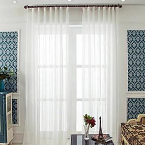 preiswerte Fensterdekoration-Durchsichtig zwei Panele Durchsichtig Wohnzimmer   Curtains