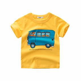 preiswerte Neue im Sortiment-Dongguan pby_0arf (Südostasien) Sommer Baumwolle Cartoon Auto Muster Kurzarm T-Shirt Unterhemd Junge 9055 Bohne green_90cm