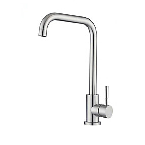 preiswerte Kitchen & Bathroom-Armatur für die Küche - Einhand Ein Loch mehrlagig Hoch / High-Arc Freistehend Moderne Kitchen Taps