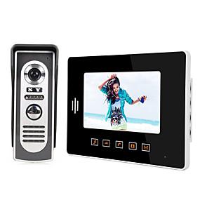preiswerte Video Türsprechanlage-LITBest 808M11 Mit Kabel Eingebauter Lautsprecher 7 Zoll Freisprechanlage 800*480 Pixel One to One-Video-Türsprechanlage