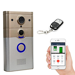 cheap Video Door Phone Systems-Factory OEM 720P WIFI 3.6mm Lens 100° Viewing Angle Doorbell No Screen(output by APP) Hands-free One to One Video Doorphone Smart Home Decor Door Accessories