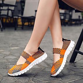 voordelige Damesschoenen met platte hak-Dames Platte schoenen Platte hak Synthetisch Lente Paars / Zwart / Oranje
