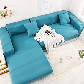 cheap Slipcovers-Sofa Cover Couch Cover Furniture Protector Solid Color Soft Stretch Sofa Slipcover Super Strechable Cover Fit for Armchair/ Loveseat/ Three Seater/ Four Seater/ L Shape Sofa Easy to Install & Care  (F