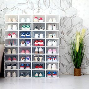preiswerte Küche & Utensilien-4pcs Lagerungskisten Kunststoff Lagerung Intelligentes Zuhause