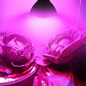 preiswerte LED Pflanzenlampe-2pcs 6 W 3000 lm 60 LED-Perlen Vollspektrum Wachsende Leuchte 85-265 V Gemüse Gewächshaus