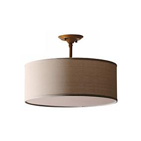 povoljno Viseća rasvjeta-pendnat svjetlo platno okrugli privjesak svjetiljka bubanj privjesak svjetlo ambijentalno svjetlo američka sela konoplja uže luster željezo i lan 3 svjetlo