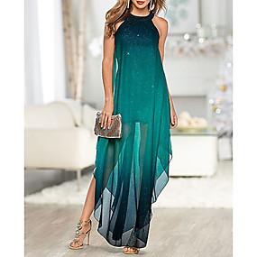 preiswerte Damenbekleidung-Damen Elegant Etuikleid Kleid Einfarbig Maxi