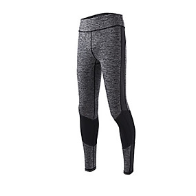 cheap Yoga & Fitness-Women's High Rise Yoga Pants Solid Color Mesh Running Fitness Tights Bottoms Activewear Breathable Quick Dry Soft Tummy Control High Elasticity Slim