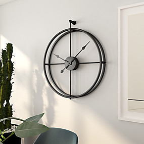 cheap Rustic Wall Clocks-Modern Contemporary / European Stainless steel Irregular Indoor Battery Decoration Wall Clock No Electroplated No