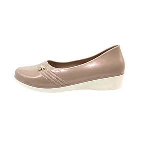 voordelige Damesinstappers & loafers-Dames Loafers & Slip-Ons Sleehak Ronde Teen Pailletten PVC Informeel Zomer Beige / Rood / Blauw