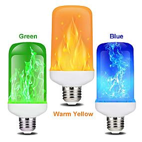 billige Globepærer med LED-zdm 1 stk 7w led flammeeffekt lyspære e27 flimrende flamme energisparing for festival halloweenchristmaspaty ac85-265v