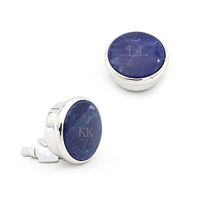 cheap Engraved Accessories-Personalized Customized Cufflinks Classic Engraved Gift Promise Festival Circle 2 PCS Blue / Laser Engraving