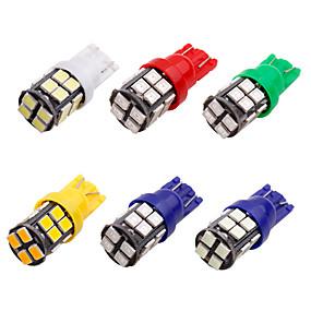 billige Side Marker Lights-10pcs t10 led w5w 2835 20 smd 194 168 w5w led lyspære hvit blå rød grønn lisens plate lampe bredde lys 20 led 12v
