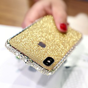 cheap Cases & Covers-Bling Bling Case For Apple iPhone XR Rhinestone Diamond Case Back Cover Solid Colored Hard Metal Case for iPhone XS / iPhone XS Max