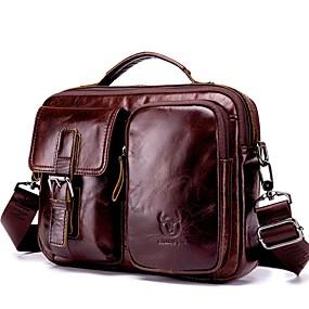preiswerte Shoes & Bags Just For Your Beautiful-(Bullcaptain) Herren Schulter Messenger Vintage Ledertasche