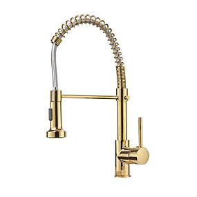 preiswerte Kitchen & Bathroom-Armatur für die Küche - Einhand Ein Loch mehrlagig Standard Spout Freistehend Moderne Kitchen Taps
