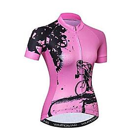 cheap Cycling & Motorcycling-21Grams Women's Short Sleeve Cycling Jersey - Pink Bike Jersey Top Quick Dry Moisture Wicking Breathable Sports Summer Elastane Terylene Polyester Taffeta Mountain Bike MTB Road Bike Cycling Clothing