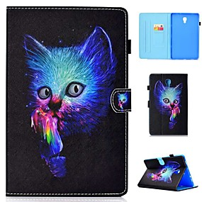 cheap Samsung Case-Case For Samsung Galaxy Tab 4 10.1 / Tab S4 10.5 (2018) / Tab A2 10.5(2018) T595 T590 Card Holder / Shockproof / with Stand Full Body Cases Cat Hard PU Leather