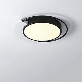 cheap Dimmable Ceiling Lights-1-Light LED® Geometrical Flush Mount Lights Downlight Painted Finishes Aluminum LED 110-120V 220-240V Warm White Cold White