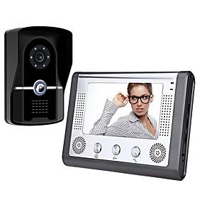 preiswerte Video Türsprechanlage-7 Zoll verdrahtet Video Türklingel HD Villa Video Intercom Außengerät Nachtsicht Regen entsperren Funktion