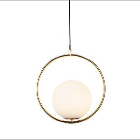 povoljno Viseća rasvjeta-Cirkularno Privjesak Svjetla Ambient Light Electroplated Metal Glass 110-120V / 220-240V