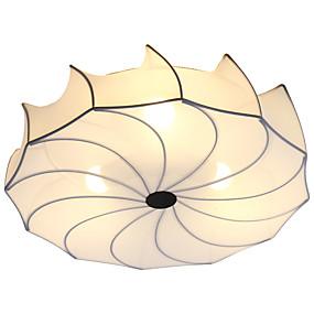 cheap Ceiling Lights & Fans-3-Light 50 cm Lovely Flush Mount Lights Metal Fabric Lantern Novelty Chrome Artistic Modern 110-120V 220-240V