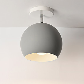 cheap Ceiling Lights & Fans-1-Light 15 cm Mini Style Lovely Flush Mount Lights Metal Globe Mini Painted Finishes Contemporary Artistic 110-120V 220-240V FCC E26 E27