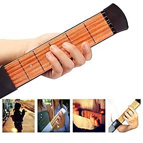 preiswerte Instrumenten Zubehör-38 Inch 6 Strings Taschengitarre / Gitarren-Trainer-Werkzeug / Akkord-Übungswerkzeug Holz Tragbar Musikinstrumente Zubehör
