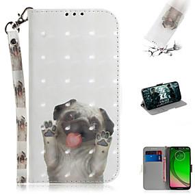 povoljno Maske za mobitele-Θήκη Za Motorola Moto G7 / Moto G7 Plus / Moto G7 Play Novčanik / Utor za kartice / sa stalkom Korice Životinja / 3D likovi PU koža