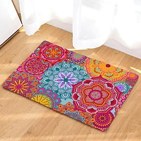 levne Podložky a koberečky-1ks Moderní Koupelnové podložky Bavlna Květiny Neskluzový