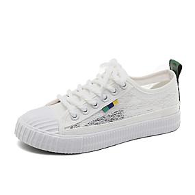 voordelige Damessneakers-Dames Sneakers Platte hak Kant Zomer Wit