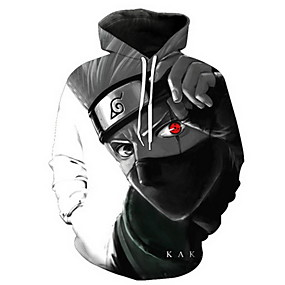 cheap Athleisure Wear-Inspired by Naruto Cosplay Coat Terylene Print Hoodie For Women's / Men's