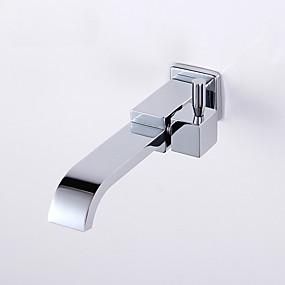 preiswerte Meist verkaufte Armaturen-Waschbecken Wasserhahn - Wasserfall Chrom Wandmontage Einhand Ein LochBath Taps