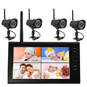 preiswerte 3save10% 5save20%-Die drahtlose 7-Zoll-DVR-2,4-G-Videoüberwachungskamera unterstützt die gleichzeitige Anzeige von vier Bildschirmen