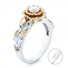 preiswerte Gravierte Ringe-Personalisiert Angepasst Klar Kubikzirkonia Ring Klassisch Geschenk Versprechen Festival Geometrische Form 1pcs Silber