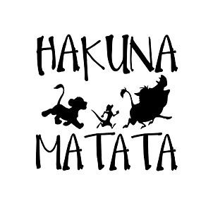 billige Tilbehør til eksteriør-delikat hakuna matata løve konge simba bil styling bil klistremerke