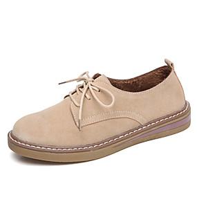 voordelige Dames Oxfords-Dames Oxfords Comfort schoenen Platte hak Suède Lente & Herfst Oranje / Beige / Lichtblauw