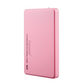 cheap Computer Components-Caraele H3 USB3.0 Portable Mobile Hard Disk External Hard Drive Ultra-thin Metal Case with USB Data Cable PU Leather Bag
