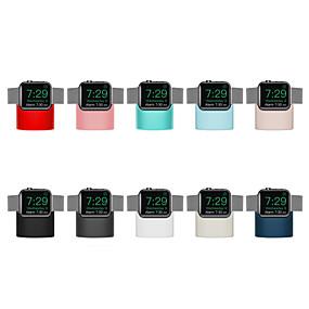 preiswerte Smartwatch Halterungen und Halter-Ständer Kieselgel Schreibtisch für Apple Watch Serie 4/3/2/1 kabelloses Laden (ohne Datenkabel)