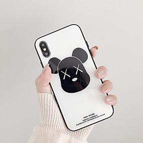 preiswerte 88Electronics-Hülle Für Apple iPhone XS / iPhone XR / iPhone XS Max Stoßresistent / Staubdicht / Ultra dünn Rückseite Tier / Cartoon Design Gehärtetes Glas