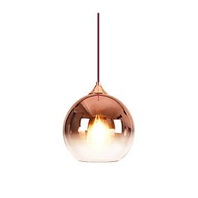 رخيصةأون أضواء السقف والمعلقات-كرة أضواء معلقة ضوء سفل مطلي زجاج زجاج لون متدرج 110-120V / 220-240V