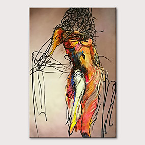 cheap Most Popular-Oil Painting Hand Painted - People Nude Modern Rolled Canvas