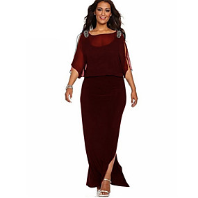 preiswerte This Summer You Are The Most Fashionable-Damen Grundlegend Hülle Kleid Solide Maxi