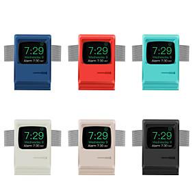 preiswerte Smartwatch Halterungen und Halter-Retro Ständer Silikagel Schreibtisch für Apple Watch Serie 4/3/2/1 kabelloses Laden (ohne Datenkabel)
