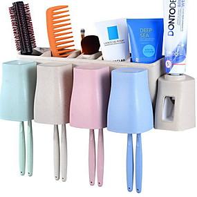 cheap Bathroom Gadgets-Tools Creative Modern Contemporary PVC(PolyVinyl Chloride) 3pcs Toothbrush & Accessories