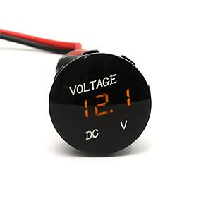preiswerte Autoteile-dc12v wasserdichte led-anzeige digital panel voltmeter elektrische spannungsmesser mit 20 cm kabel für auto motorrad suv