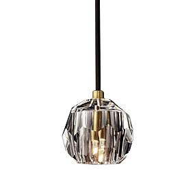 preiswerte Renovierung-einfache pendelleuchte hängende leuchten kristallschirm pendelleuchte umgebungslicht galvanisierter kristall